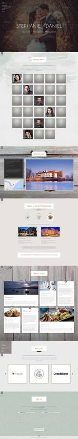 Web Page Design for a Wedding RSVP