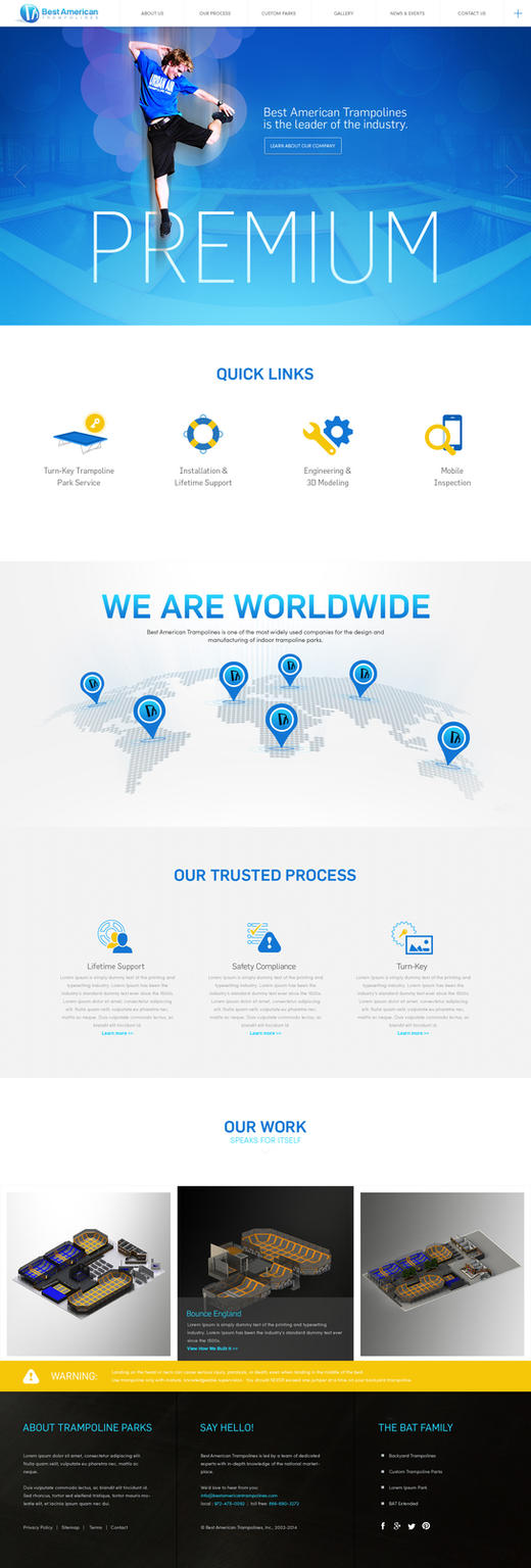 Web Page Design for Trampoline Parks Company by bojok-mlsjr