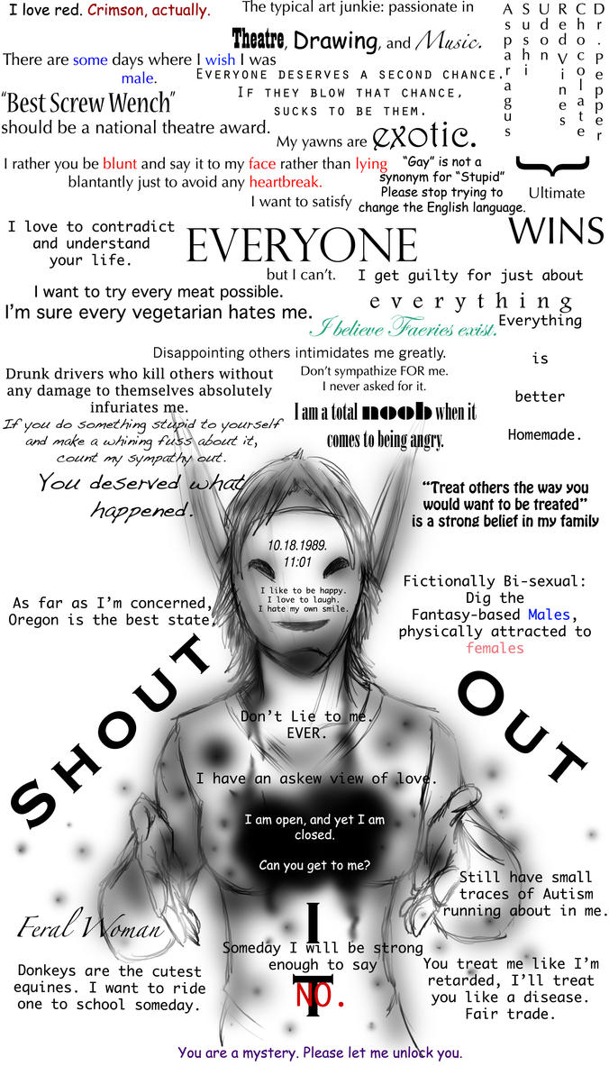 Shouting it out by BananaGoddess