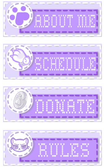 Twitch Panels For GamerKitty! by MarshmallowDreamm