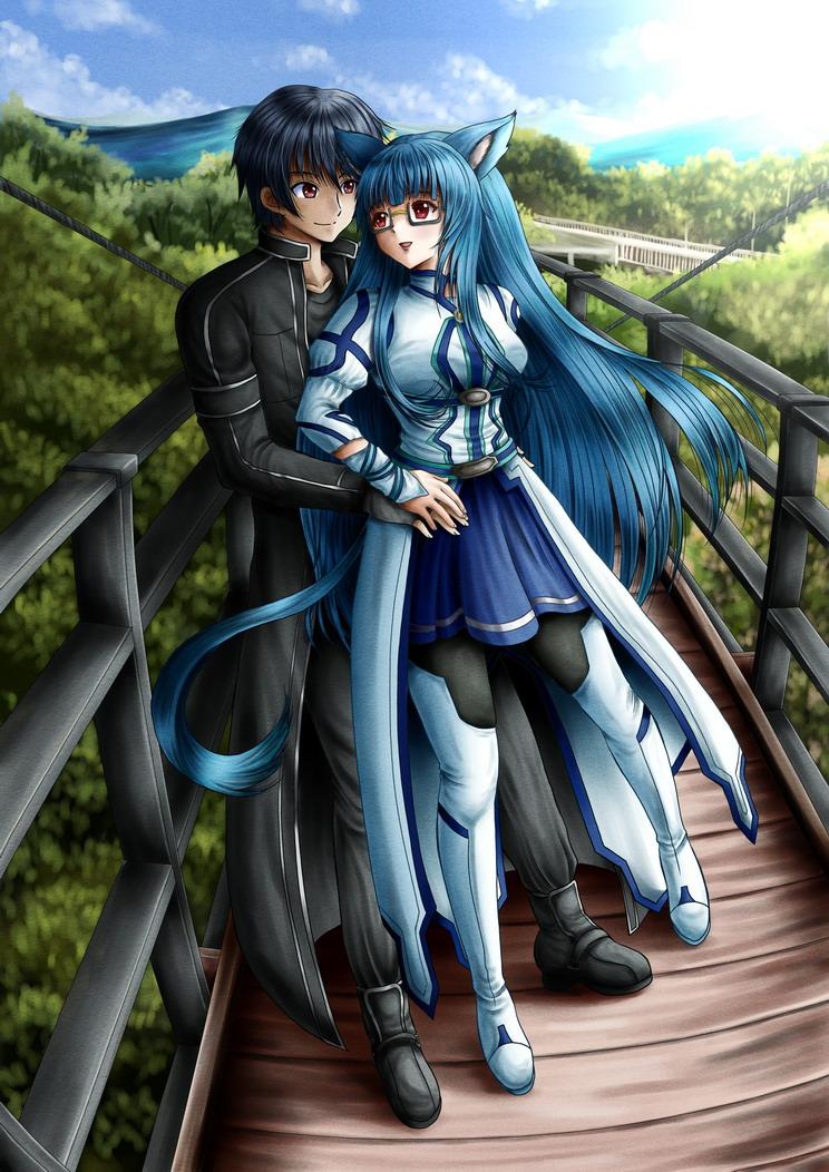 Commission : Kanzashi and Ichika by ilolamai