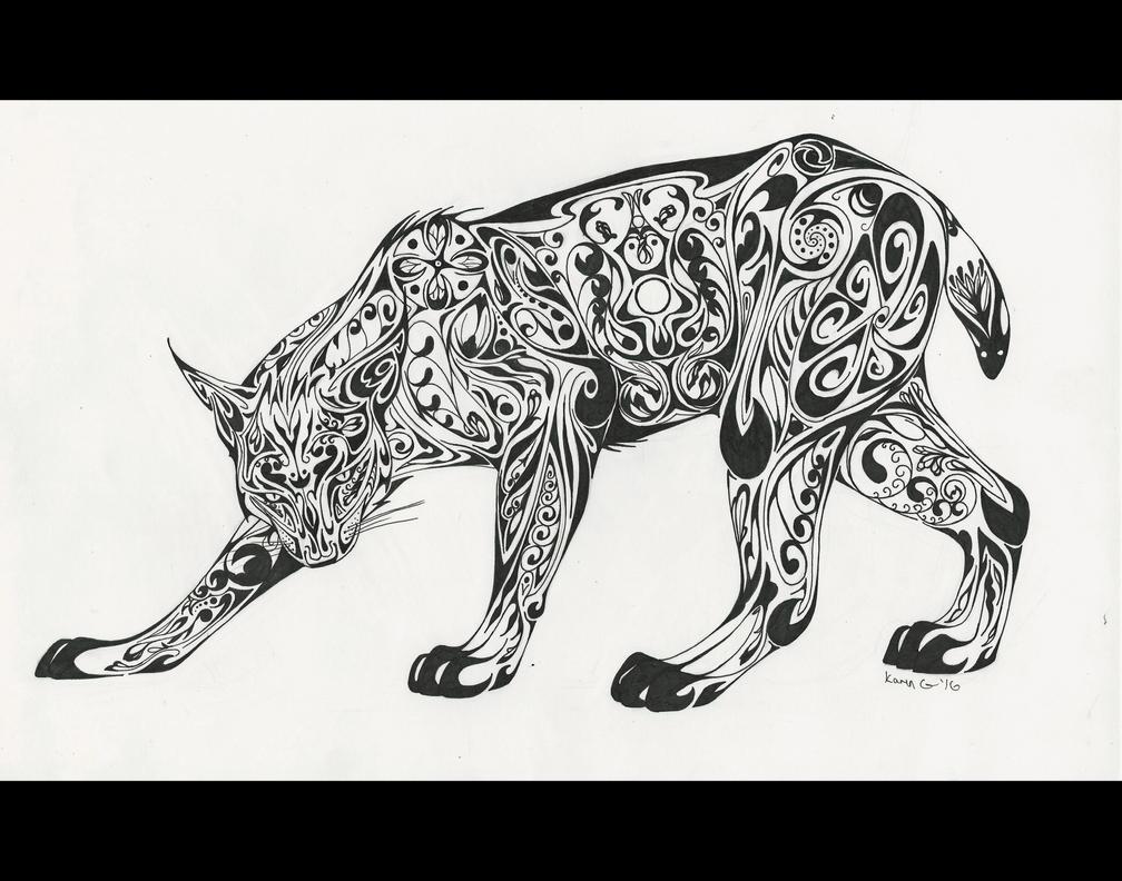 Art Deco Lynx by GreenGosselin