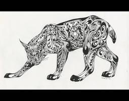 Art Deco Lynx
