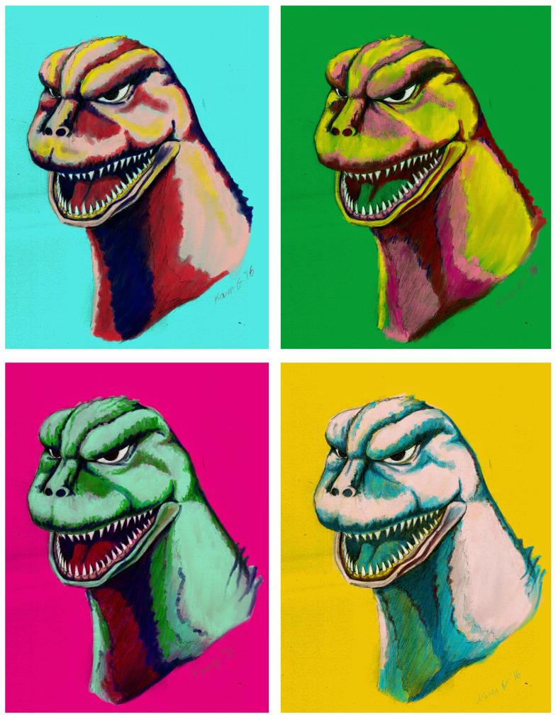 Godzilla for my Tom by GreenGosselin