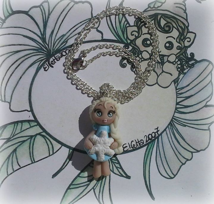 Necklace with Elsa (Frozen) by Elfetta2007