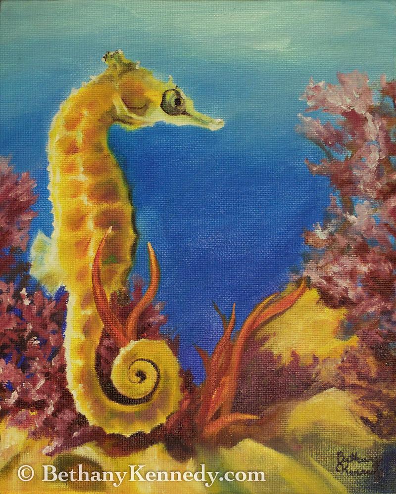 Seahorse by FuzzyCreaturePainter