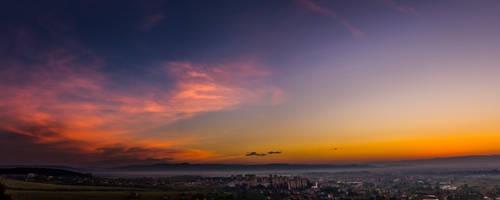 Sunrise over Saint George City 1 by JoeGP