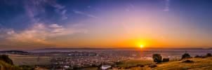 Sunrise over Saint George City 2 by JoeGP