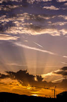 Sunset crane by JoeGP