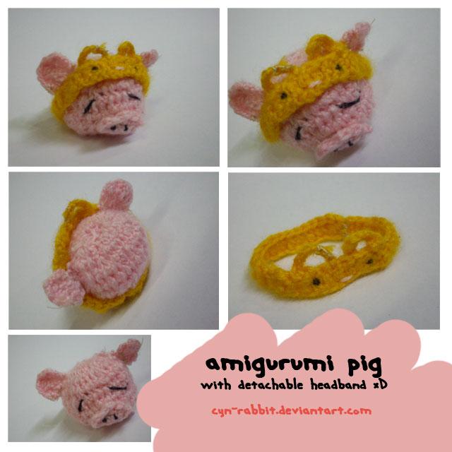 Amigurumi Pig Rabbit : 8 amigurumi pig by Cyn-Rabbit on DeviantArt