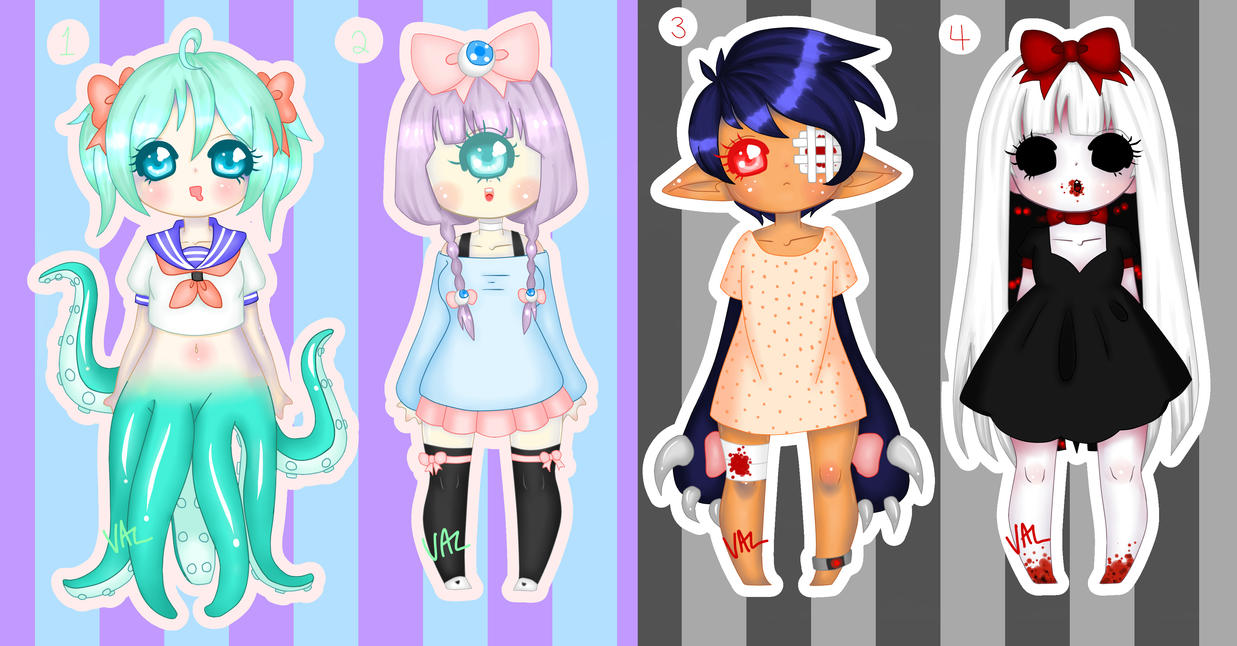 Monster Mashup Adopts (CLOSED) by lifeforce10