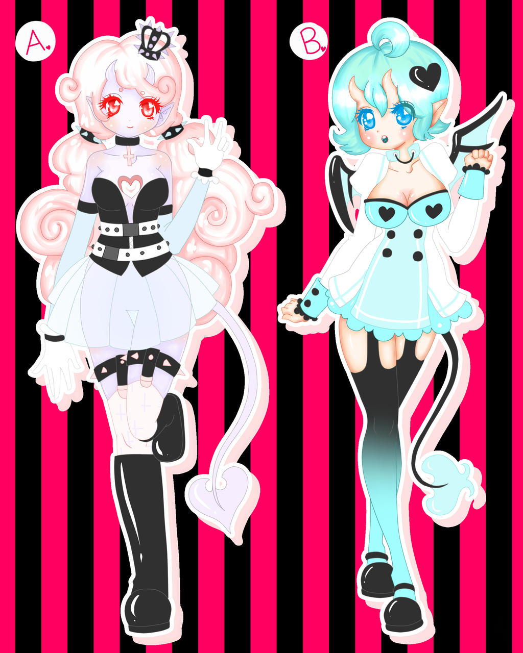 Demon Pair Adoptables (CLOSED) [AUCTION] by lifeforce10