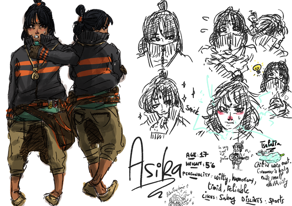 Asika: Reference Sheet by honeyOdew