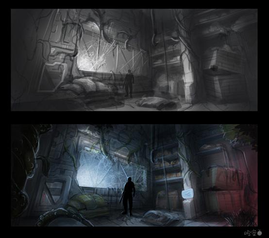sci fi military bases thumbnail by ha min on deviantart. Black Bedroom Furniture Sets. Home Design Ideas