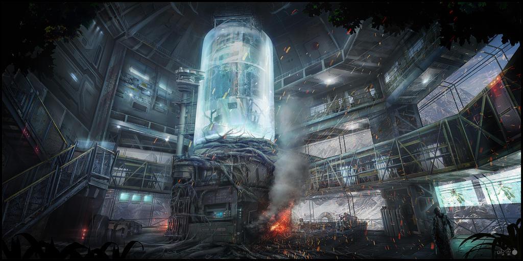 sci fi military bases concept by ha min on deviantart. Black Bedroom Furniture Sets. Home Design Ideas