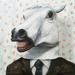 a man disguise horse