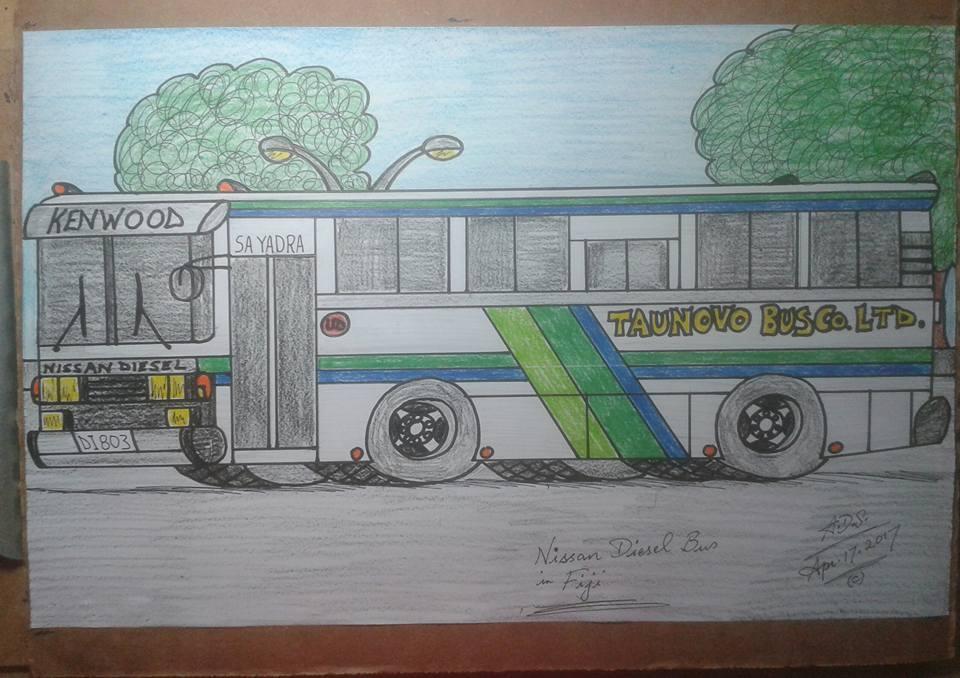 Nissan Diesel bus my version by adrian154