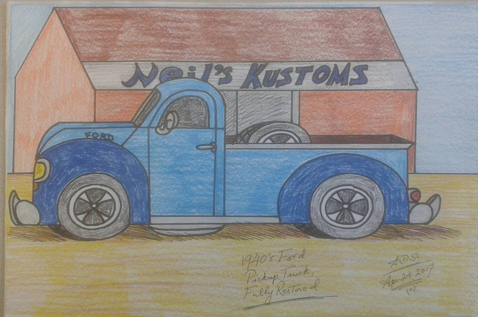 1940's classic Ford pickup truck. by adrian154