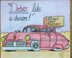 Vintage 1949 Mercury car ad