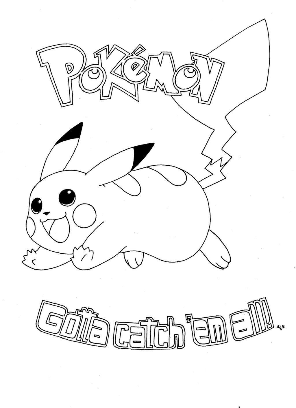 pikachu coloring page by champion frita on deviantart