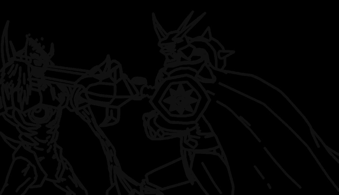 Digimon Lineart by Omnimon1996 on DeviantArt