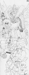 Digimon x EQG Sketchdump #3 by Omnimon1996