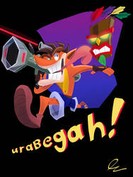 Urabegah! Crash Bandicoot by DerpyTots