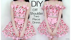 Off Shoulder(Detachable) Two Piece Princess Dress