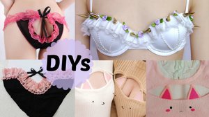 3 Cute and Sexy DIYs: DIY Pastel Gothic Spiked Bra