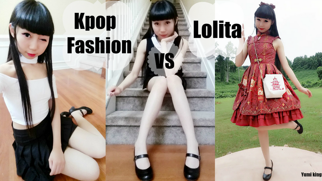kpop fashion vs lolita inspired outfit ideas by yumiking dagi195