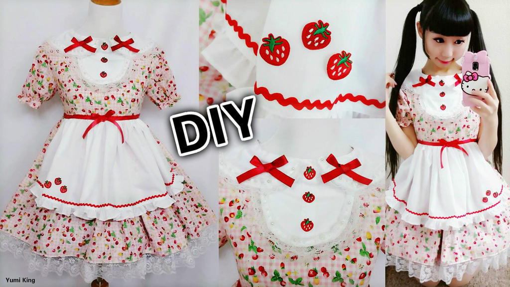 Diy Strawberry Maid Cafe Cosplay Costume By Yumiking On