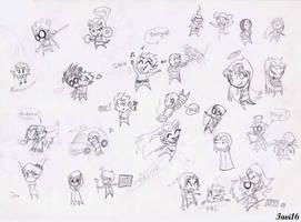 Teen Titans chibis