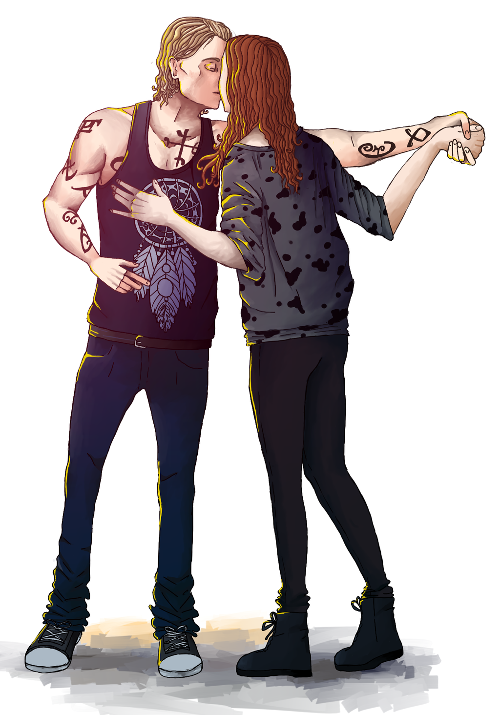 Jace, Clary and Simon. Art by tabeck on Deviantart. in ...  |Jace And Clary Fan Art Tumblr