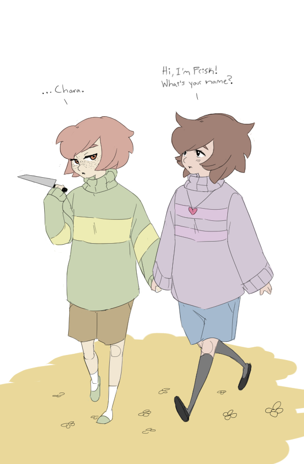 Chara and Frisk by FruitConflate