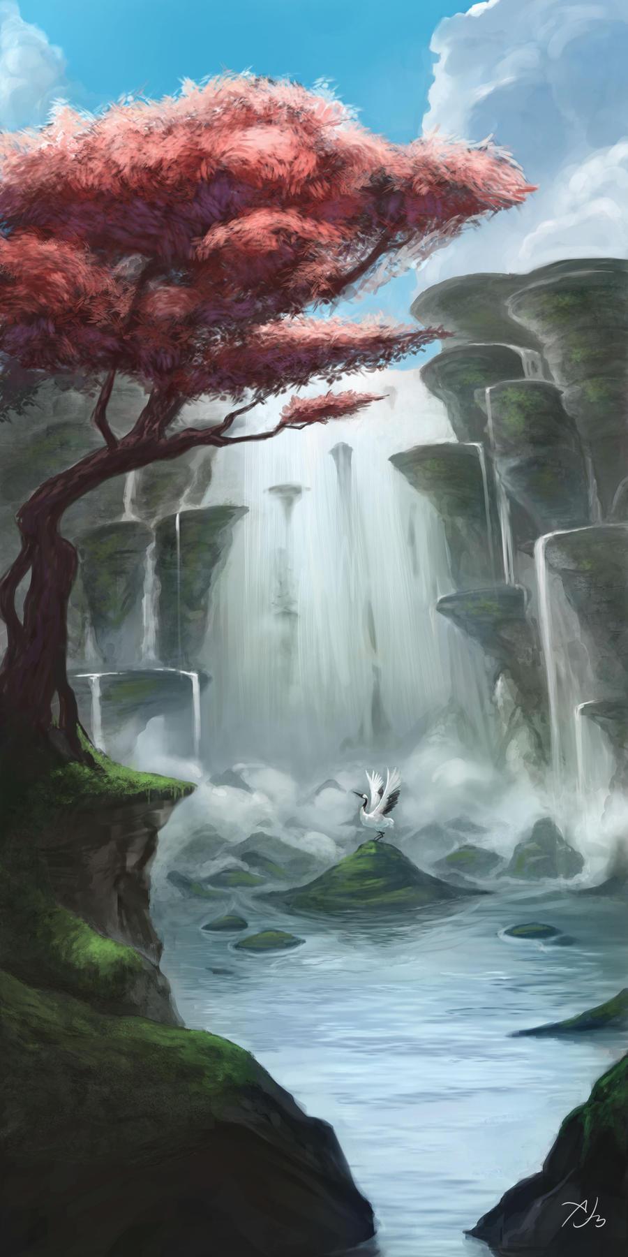 Blossom Falls by astray-engel
