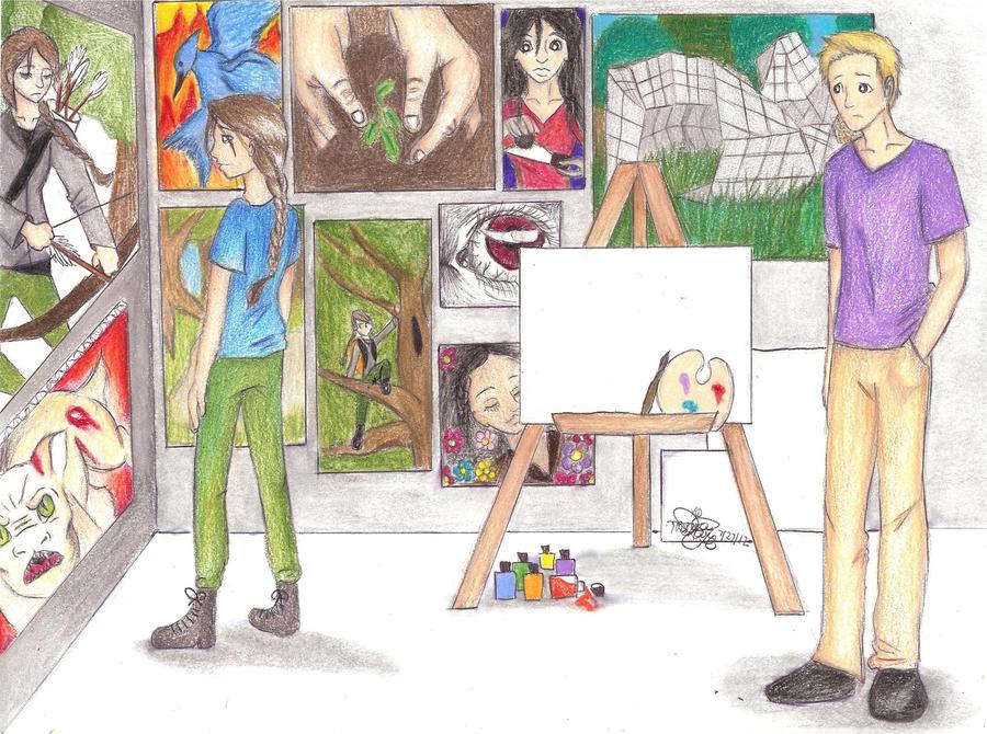 Peeta's Paintings by iheartart121