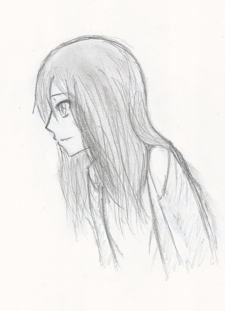Manga Girl Side View by MusicFreak8800 on DeviantArt