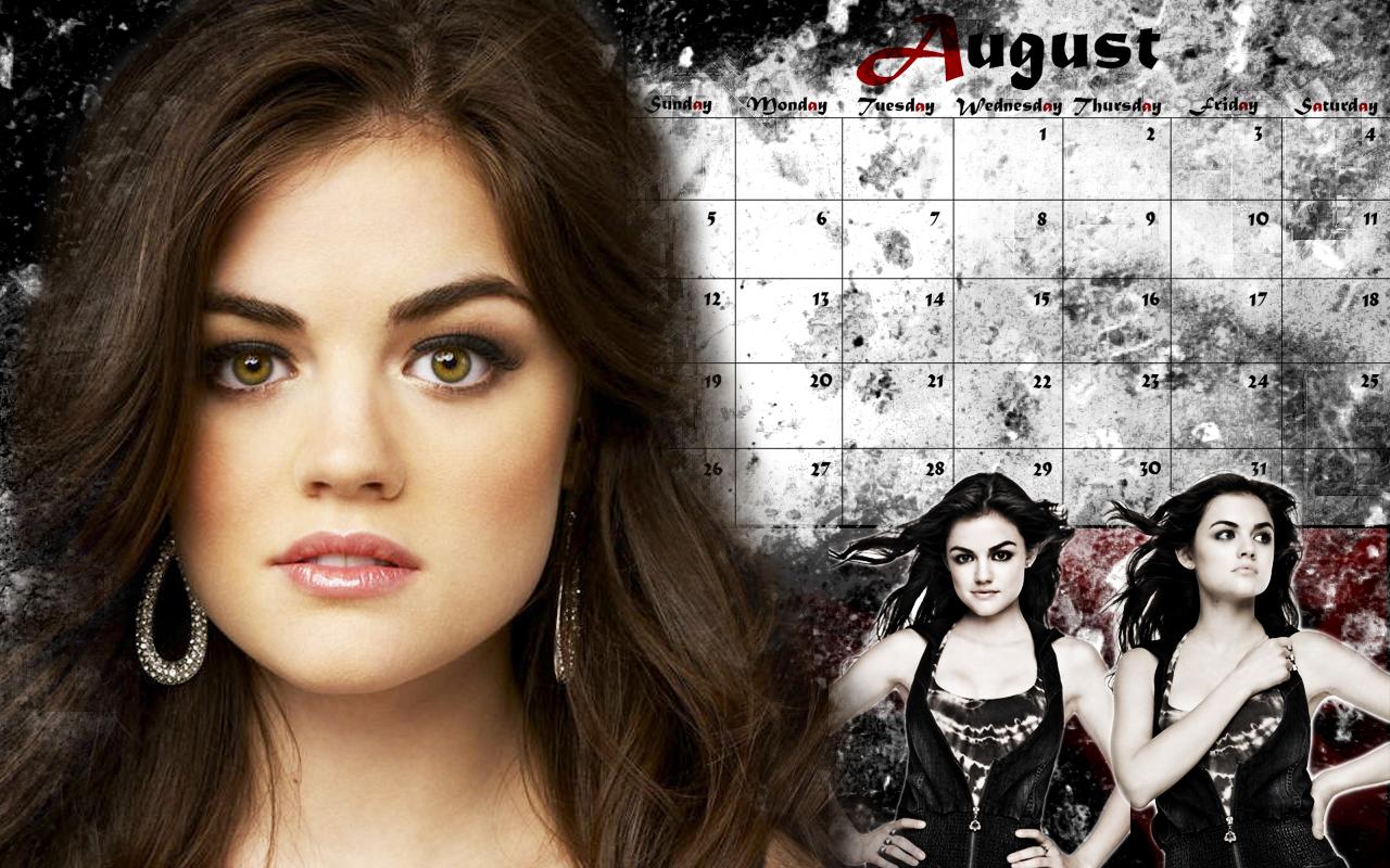 pll desktop calendar wallpaper - aria/augustcertainlylostfamegal