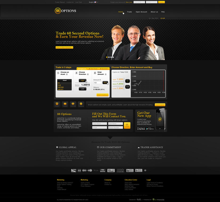 Forex broker web design