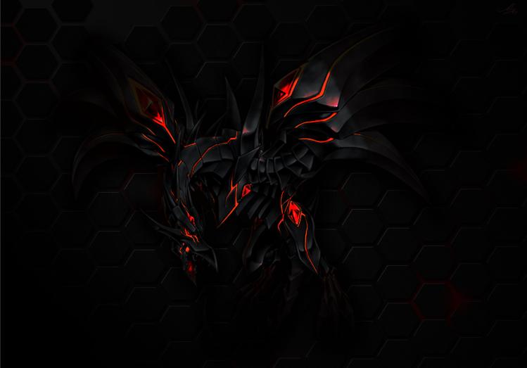 redeyes darkness dragon by joshuadyson on deviantart