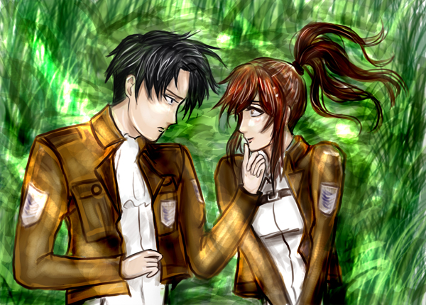 aot kik couple by KnightMareDemonia
