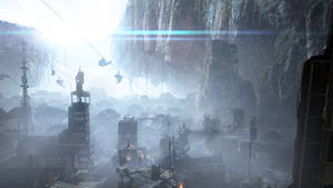 Colony matte painting