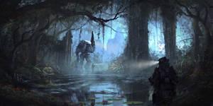 Swamp Temple Night