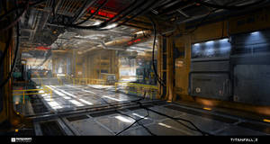 Titanfall - Militia Factory interior by 2buiArt