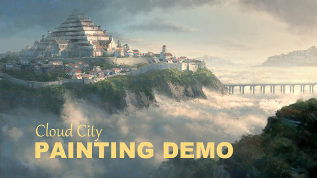 Cloud city painting Demo