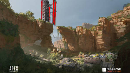 Apex Legend's Kings Canyon Cliff by 2buiArt