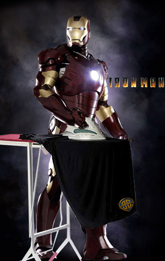 Iron man is ironing by bozwolfbros