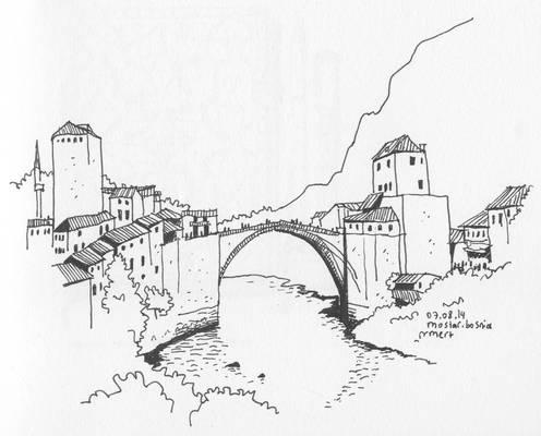 Mostar Bridge, Mostar, Bosnia