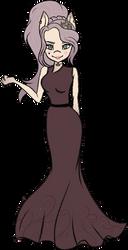 Samantha with dress by ShyLunaAdopt