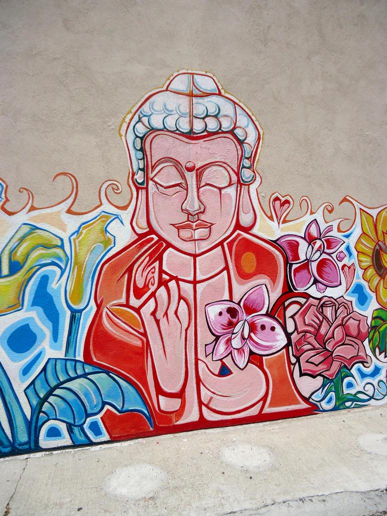 buddha graffiti by nematophagousmites on deviantart